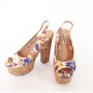 Steve Madden Genny Chunky Heel Shoes Size: 7